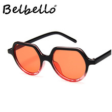 Belbello Acrylic Plastic Sunglasses Fashion Style Women Most Popular Trend Solid Novelty
