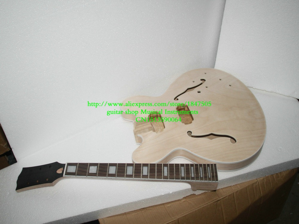 New Arrival 335 style PROJECT Unfinished electric guitar body for DIYer 20pcs new style soundhole rosette acoustic body project maple guitar parts