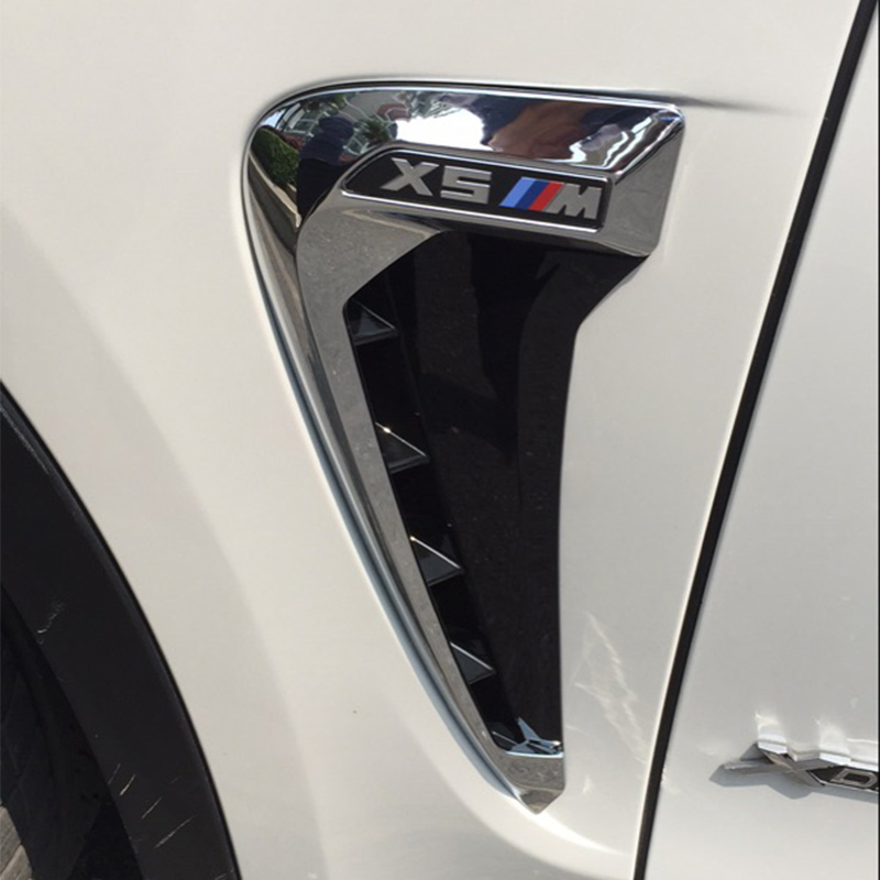 X5 F15 X5M ABS Chrome Auto Car Side Fender Vent Trim for BMW F15 2014-2016X5 F15 X5M ABS Chrome Auto Car Side Fender Vent Trim for BMW F15 2014-2016
