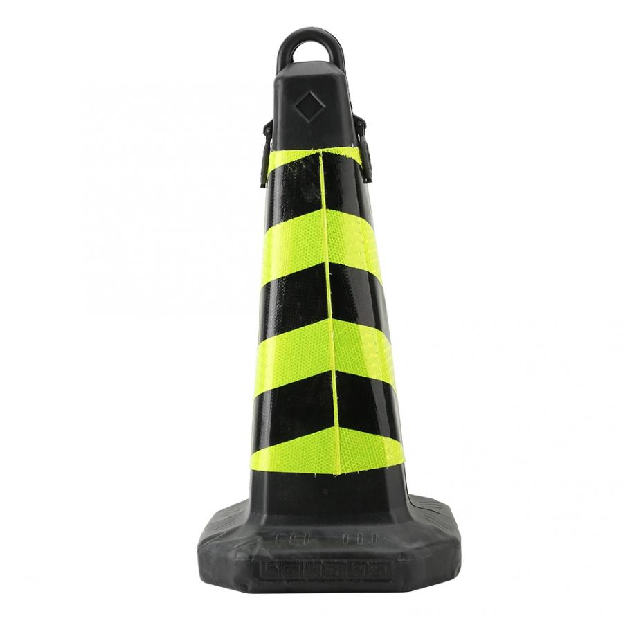 High Quality Road Traffic Plastic Reflective Road Cone Yellow And Black Stripes