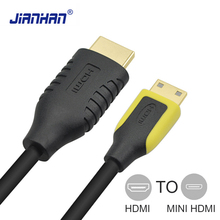 JIANHAN High Speed HDMI to Mini Male-Male Plug Cable 1080p 3D 1.4 Version for Tablets DVD Computer PC HDTV Projector