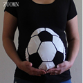 2017 Summer Maternity 3D Print Football T-Shirt Women Tops Loose Clothing Pregnancy Pregnant T shirts Pregnancy Clothes YL521