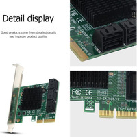 PCI Express to SATA3.0 Expansion Card Adapter 6Port SATA III 6G for SSD HDD IPFS Mining SL@88