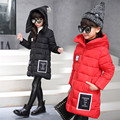 Fantasy Solid Girls Parkas Winter Coat Children's Warm Parkas Jackets for Girls Clothing Hooded Coat Clothes for  Girls Teens