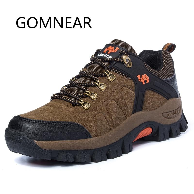 GOMNEAR Hiver Sneakers Pour Hommes Tactique Bottes de Randonnée En Plein Air Chameau Chaussures Tourisme Chasse Bottes Montagne Escalade Chaussures Pour Hommes