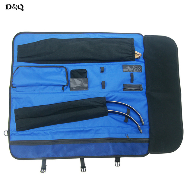 Archery Recurve Bow Take Down Bow Bag Case for Hunting  Shooting Accessories Foldable Rolled-Up Shoulder Handle Carrying Bow Bag