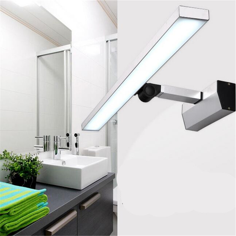Wall Lights For Shower Room : 2016 new modern brief aluminum cob led wall light make up lighting bathroom under cabinet lights ...