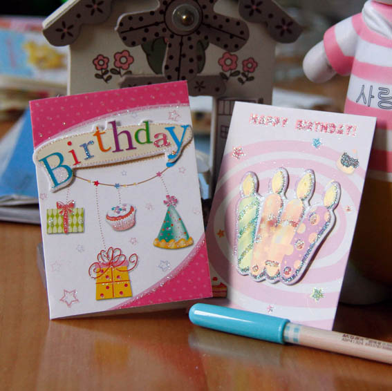 60pcs Mini Greeting Card Shop Gift Happy Birthday Cake Festival