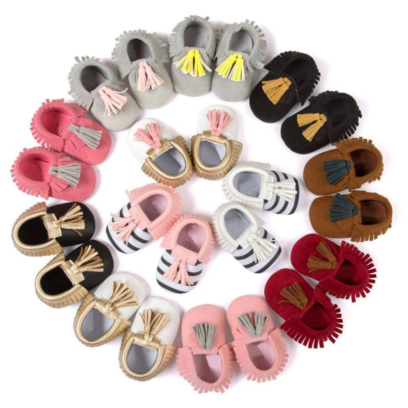 0-18M Baby First Walkers Moccasins Shoes Baby Soft PU Leather Tassel Girls Moccs Moccasin Bow Toddle Shoes0-18M Baby First Walkers Moccasins Shoes Baby Soft PU Leather Tassel Girls Moccs Moccasin Bow Toddle Shoes
