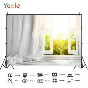 Image 2 - Yeele biały dom kurtyna okno słońce wnętrze fotografia tła dostosowane fotograficzne tła dla Photo Studio
