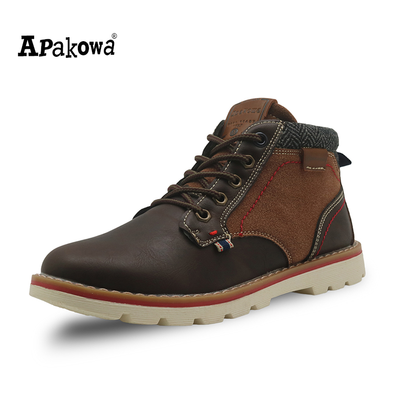 Apakowa Autumn Kids Shoes Pu Leather Boys Boots with Arch Support Ankle Children's Martin Boots ...