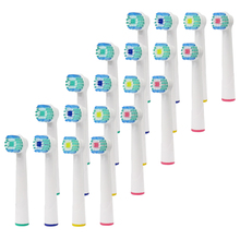 цена на 20PCS oral b electric toothbrush replacement heads for braun Electric Tooth brush Pro Professional Care Vitality Dual Cleaning