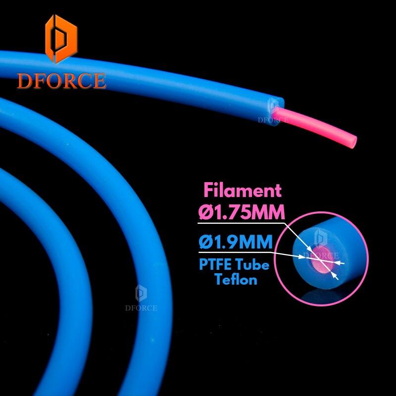 Tube de PTFE bleu Dforce Teflonto tl-mangeoire hotend RepRap Rostock extrudeuse de 1.75mm filament ID1.9mmOD4mm CapricornusTube de PTFE bleu Dforce Teflonto tl-mangeoire hotend RepRap Rostock extrudeuse de 1.75mm filament ID1.9mmOD4mm Capricornus