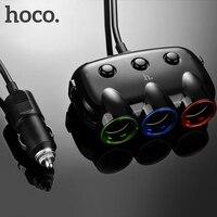 HOCO ХОКО C1 Три в одном автомобильное зарядное устройство в прикурку двойной порт USB двойной ЮСБ для iPhone iPad Samsung автомобильный тройник адаптер ...