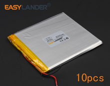10pcs/Lot 3.7V 4000mAh Polymer Li-ion Battery For ablet PC iPAQ E-Book PDA Portable DVD Consumer electronics safety lamp 467992