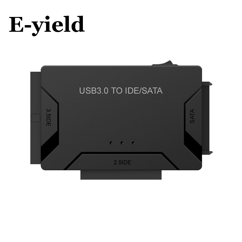 SATA to USB IDE to USB 3.0 2.0 Sata Cable with 12V 2A Power Adapter for 2.5 3.5 Hard Disk HDD SSD USB IDE Sata Adapter usb 3 0 male to sata female adapter usb 3 0 male to female cable for 2 5 hard disk yellow