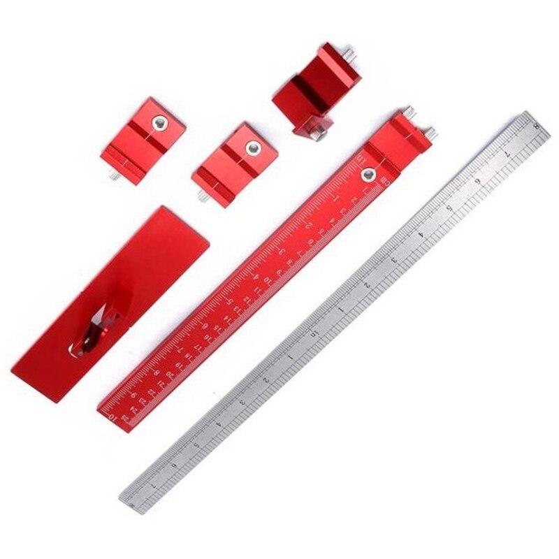 Ensemble d'outils de gabarit de poinçon de trou manchon de guidage de foret détachable outils de forage de bois de tiroir d'armoire
