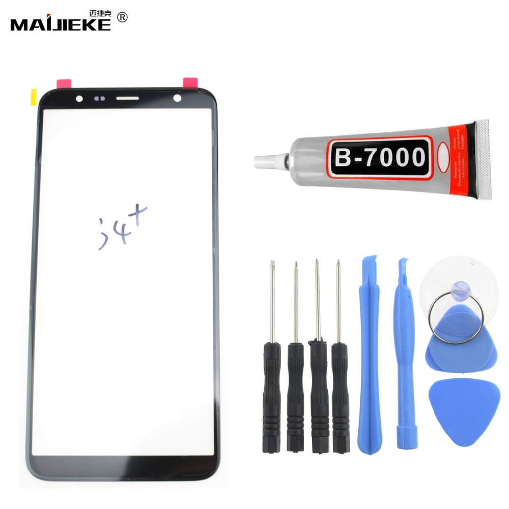 New Screen Touch Panel Digitizer for Samsung Galaxy J4 plus J4+ Front Glass Lens Replacement Repair Tools+9ml <font><b>B9000</b></font> <font><b>Glue</b></font> image