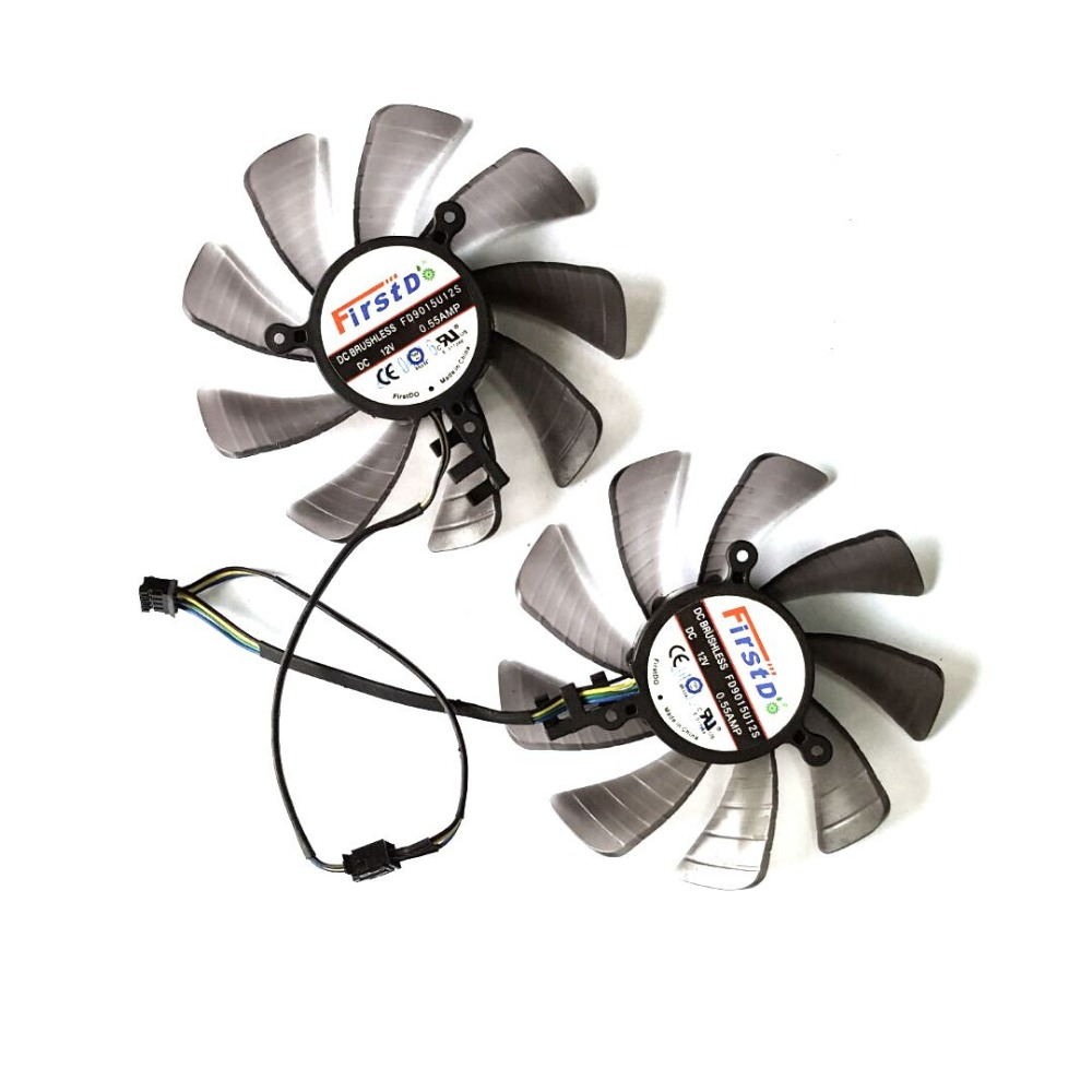 Free Shipping 2pcs/lot  FD9015U12S DC12V 0.55A  For  Original  XFX  HD7950 HD7970 Graphics Card  Fan