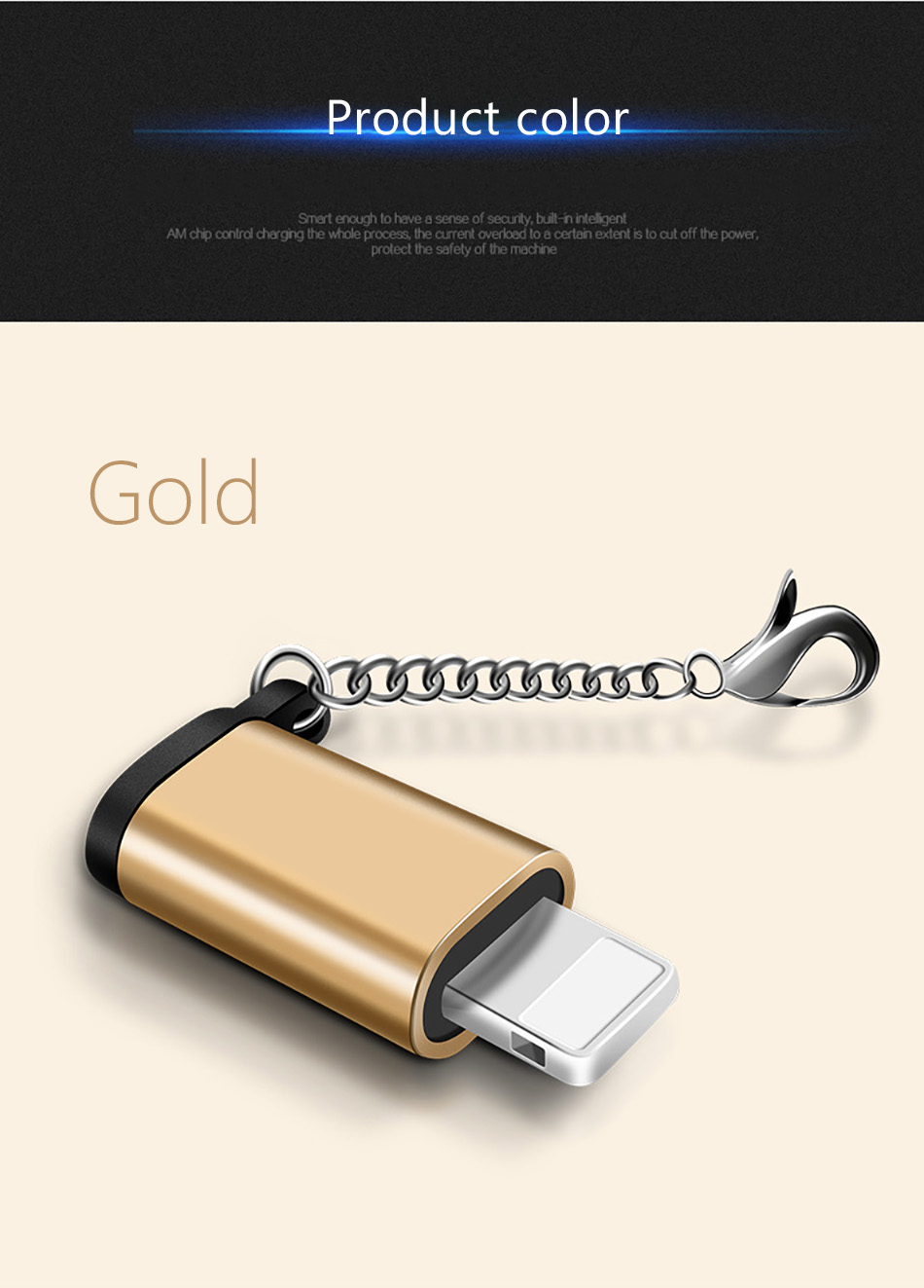 !ACCEZZ Mini Micro USB To Lighting 8 Pin For Apple Adapter With Key Chain For iphone X XS XR 6 7 Plus Sync Charger OTG Converter (7)