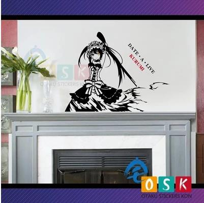 Pegatina Anime Cartoon Car Sticker DATE A LIVE Tokisaki Kurumi Vinyl Wall Sticker Decal Decor