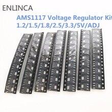 70 יחידות ערכת מתח רגולטור ערכת AMS1117 1.2 v/1.5 v/1.8 v/2.5 v/3.3 v/5.0 v/מתכוונן lm1117 AMS1117 1.2 AMS1117 1.8 AMS1117 2.5 AMS1117 3.3
