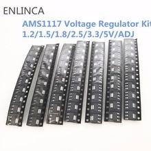 70 peças kit regulador de tensão ams1117 1.2 v/1.5 v/1.8 v/2.5 v/3.3 v/5.0 v/AMS1117 1.2 v/adj lm1117 AMS1117 1.8 AMS1117 2.5 AMS1117 3.3