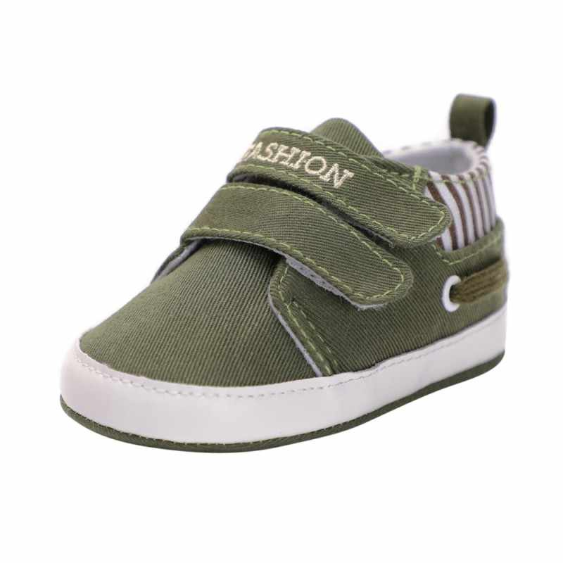 Newborn Baby Boys Cotton Ankle Canvas Shallow Fashion Crib Shoes Casual Sneaker Toddler First Walkers