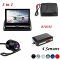 3in1 Car Video Parking Assistance 4.3 Inch TFT Auto Mirror Monitor With Rear View Camera and Reversing Radar Sensor System