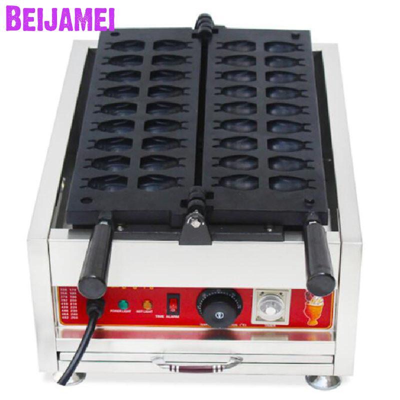 BEIJAMEI cartoon waffle bakery machine electric Totoro shapes waffle maker commercial Chinchilla waffle making machine