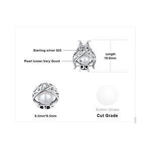 Image 5 - Jpalaceバット作成された真珠のペンダントネックレス925スターリングシルバー宝石用原石チョーカーステートメントネックレス女性チェーンなし