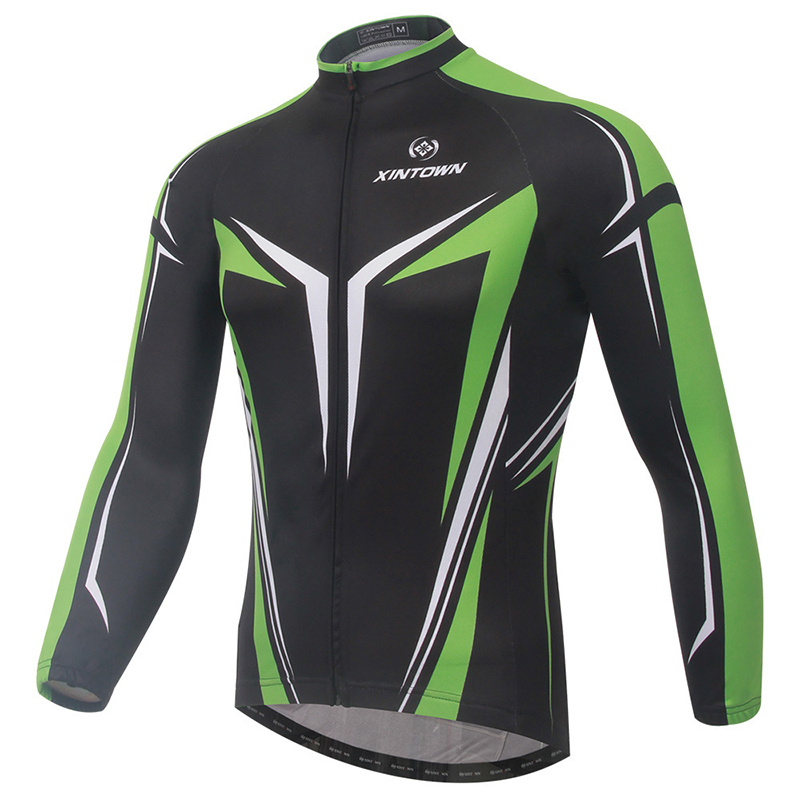 XINTOWN MTB Cycling Jersey Windproof Warmth Fleece Long Sleeve Jacket Spring Cycling Clothing Bike Bicycle Equipment Clothes