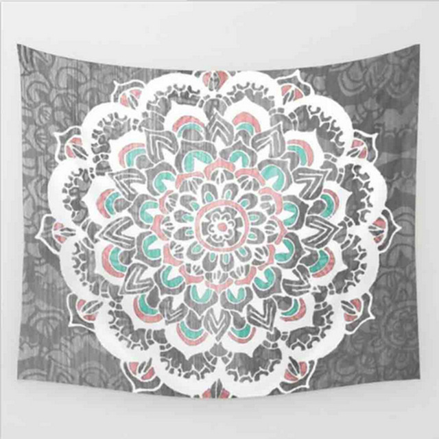 New Indian Mandala Tapestry Hippie Home Decorative Wall Hanging Bohemia Beach Mat Yoga Mat Bedspread Table Cloth 205x150CM