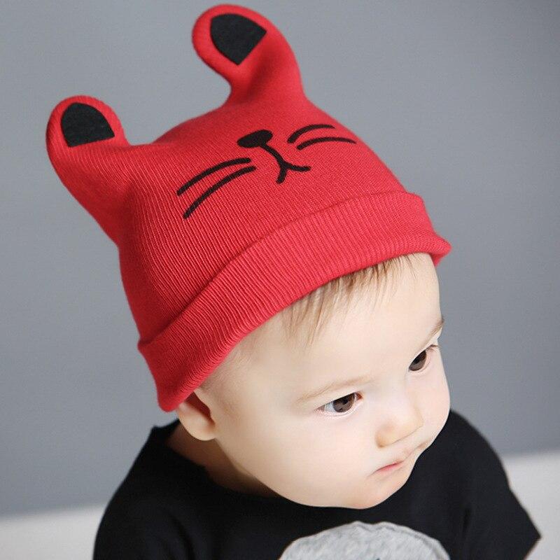 Mode 0-24 maanden Warm kind kat oren gebreide muts baby wol hoed (6 - Babykleding - Foto 3