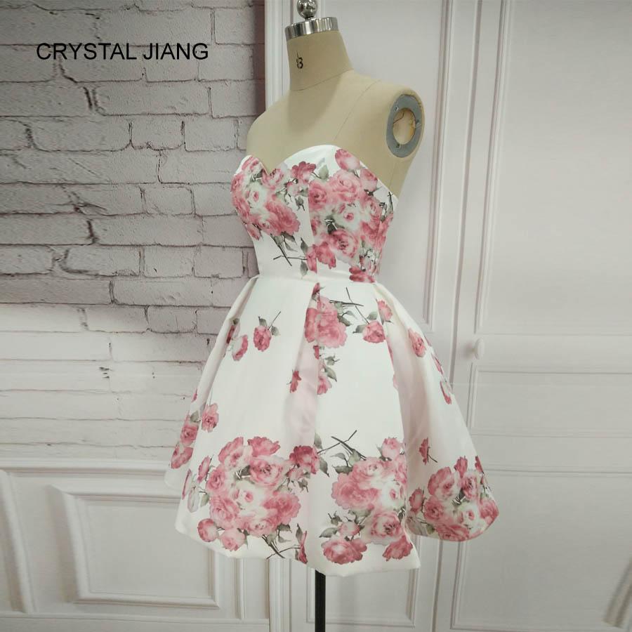 CRYSTAL JIANG 2018 Απλό σχέδιο γλυκιά Floral - Ειδικές φορέματα περίπτωσης - Φωτογραφία 6