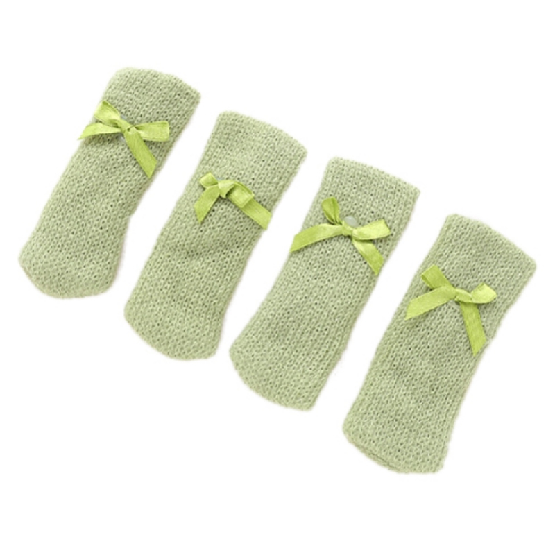 4Pcs Anti-Slip Sleeve Sock Floor Protector Chair Table Leg Knitting Wool Furniture Cover Pad Foot Sleeve Home Decoration Supply