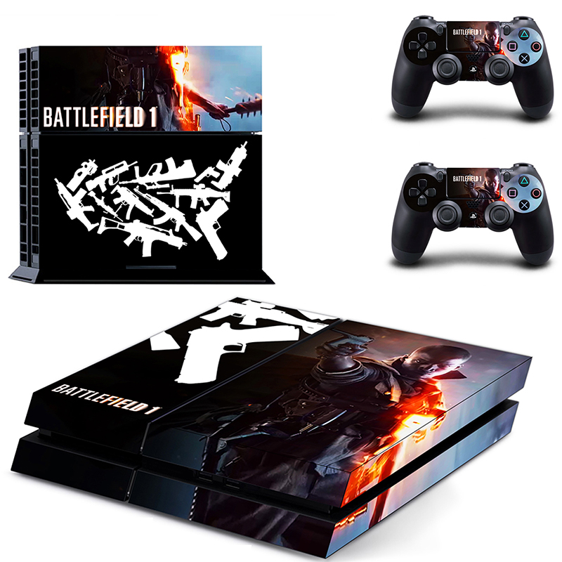HOMEREALLY PS4 Skin BATTLEFIELD 1 Vinyl Decal Sticker Cover For Sony PlayStation 4 Console and Controller Ps4 Skin Accessory