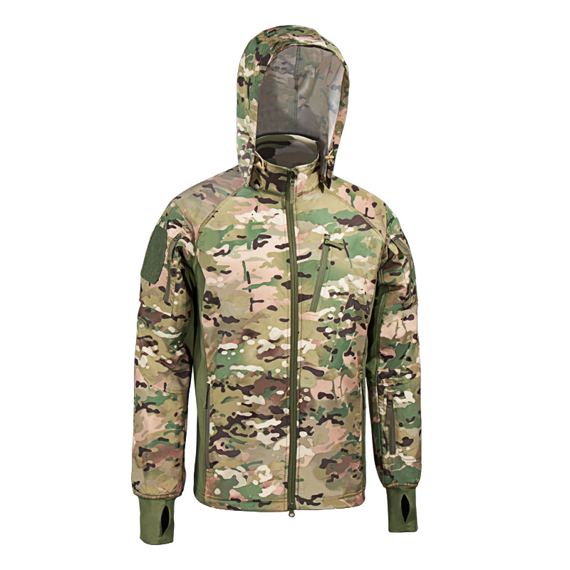 MEGE Men's Waterproof Military Tactical Jacket Men Warm Windbreaker Bomber Jacket Camouflage Hooded Coat US Army chaqueta hombre 83