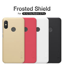 For Xiaomi Redmi 6 Pro case Nillkin Super frosted PC hard case plastic back cover + Screen Protector For redmi A2 Lite cover