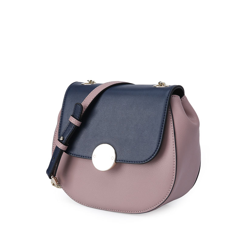 Genuine new cover-type Calfskin crossbody bags for women Bag chain simple saddle-shaped Korean women shoulder Messenger bag best quality 2018 new gate shoulder bag women saddle bag genuine leather bags for women free shipping dhl