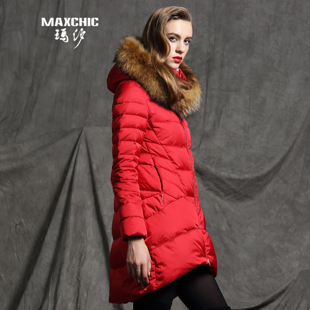2015 new Hot winter Thicken Warm Woman Down jacket Coat Parkas Outerwear Hooded Fur collar Raccoon Loose Luxury long plus size 2015 new hot winter thicken warm woman down jacket coat parkas outerwear hooded loose straight luxury brand long plus size xl