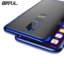 For Oneplus 6 Case Cover Luxury Transparent Soft Silicone Slim Plating Edge TPU Back Oneplus6 6T 5T Phone Coque
