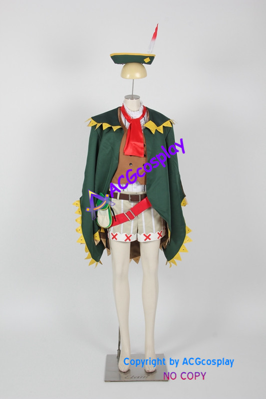Monster Hunter 4 Ultimate Sophia Cosplay Costume include hat and accessories ACGcosplay anime costume