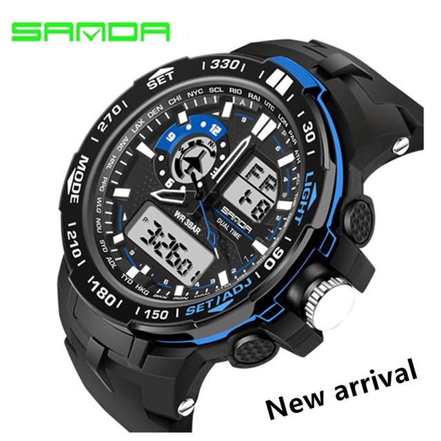 Moda SANDA Homens Relógio Led Relógio Digital de Militares dos homens Do Esporte Relógios Cronógrafo Alarme Luxo Marca Relógio de Quartzo relógios de Pulso