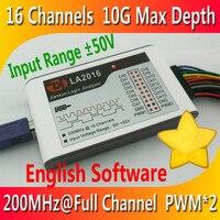 Kingst LA2016 USB Logic Analyzer 200Mสูงสุดอัตราการสุ่มตัวอย่าง 16 ช่อง 10Bตัวอย่าง 2 PWM Out Oscilloscopes