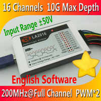 Kingst LA2016 USB Logic Analyzer 200M MAX Sample Rate 16Channels 10B Samples 2 PWM Out Oscilloscopes