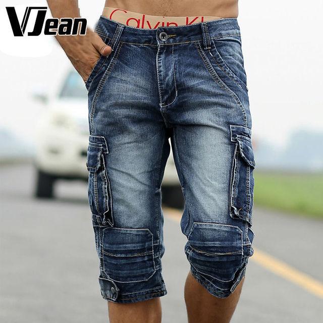 Aliexpress.com : Buy V JEAN Man's Vintage Cut Off Jean Shorts ...