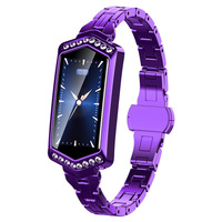Smart Watch Women IP67 Waterproof Heart Rate Monitor Metal Strap Fitness Bracelet For Android IOS Phone Wife Gift