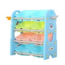 Children's Toy Storage Rack Baby Plastic Multi-layer Finishing Toys Storage cabinet Shelf Storage Shelf