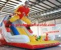 Barato de calidad comercial tobogán inflable, diapositiva de salto inflable, Slide gorila inflable